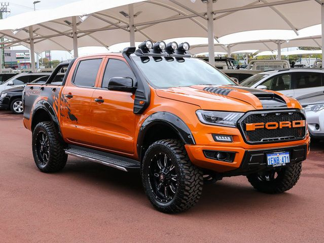 2014 Ford Ranger Px Xl 3 2 4x4 Orange 6 Speed Automatic Dual Cab