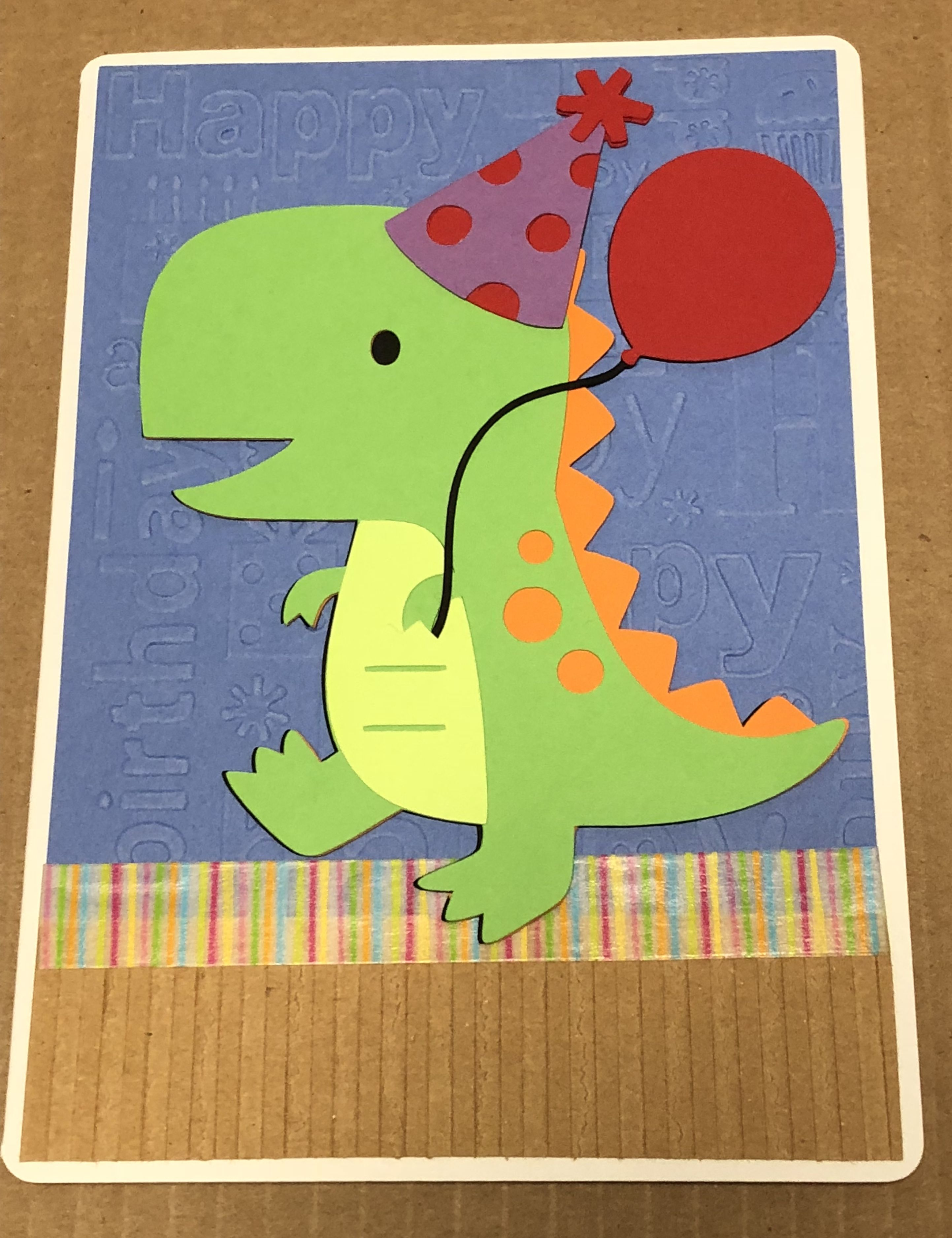 Dinosaur Birthday Card Made With Cricut Shapes Inside Reads I Hope Your Birthday Is Dino Mite Cricut Cards Dinosaur Birthday Kids Rugs