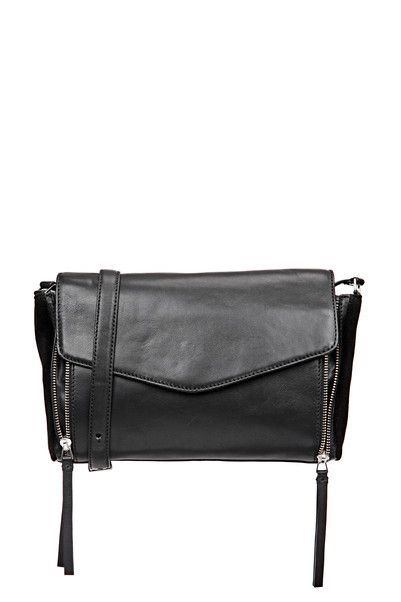 45f530fae4 Sac cuir noir poches zippées Toameme Mellow Yellow sur MonShowroom.com