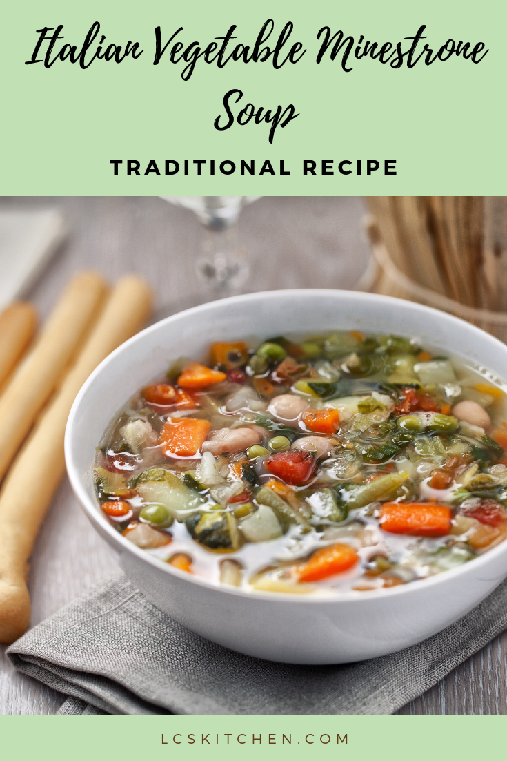Italian Vegetable Minestrone Soup