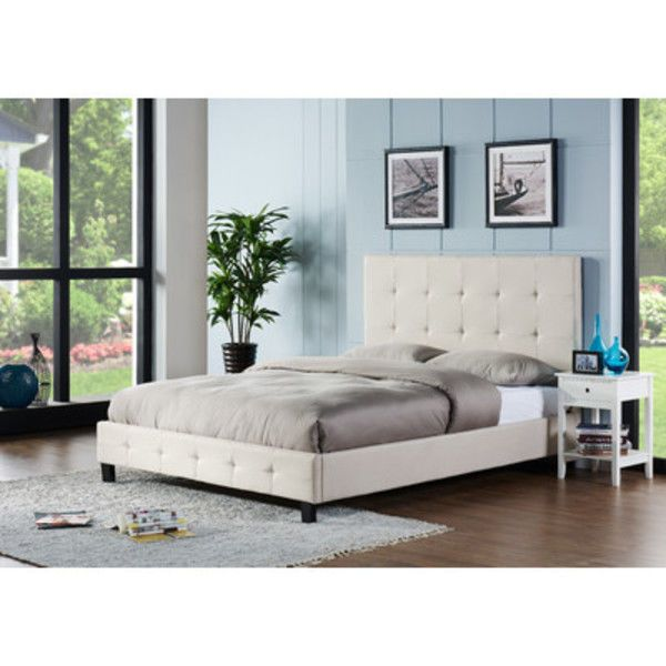 Chic Upholstered Platform Bed Full Size Headboard Footboard Low Profile Bedroom Z Upholstered Headboards Bedroom Bed Frame And Headboard Upholstered Bed Frame