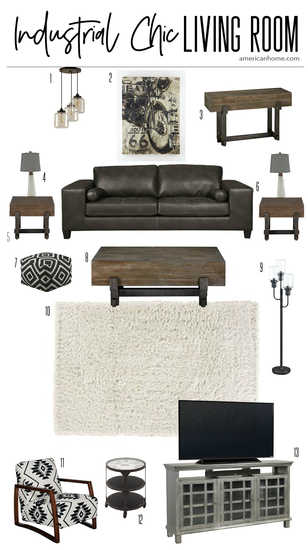 Storyboard: Industrial Chic Living Room images