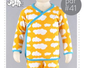 Baby Kimono Shirt Pattern Sewing Pdf And Tutorial Sizes Preemie To