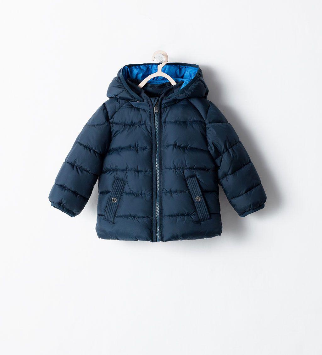 Zara Kids Padded Jacket With Detachable Hood Little