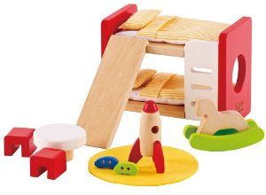 Hape Wooden Doll House Furniture Children s Room with Accessories