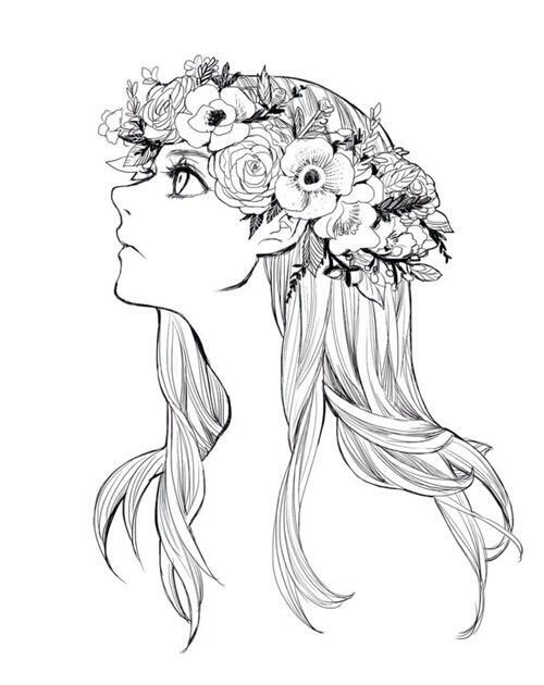 Flower Crown Flower Crown Drawing Crown Drawing Flower Drawing