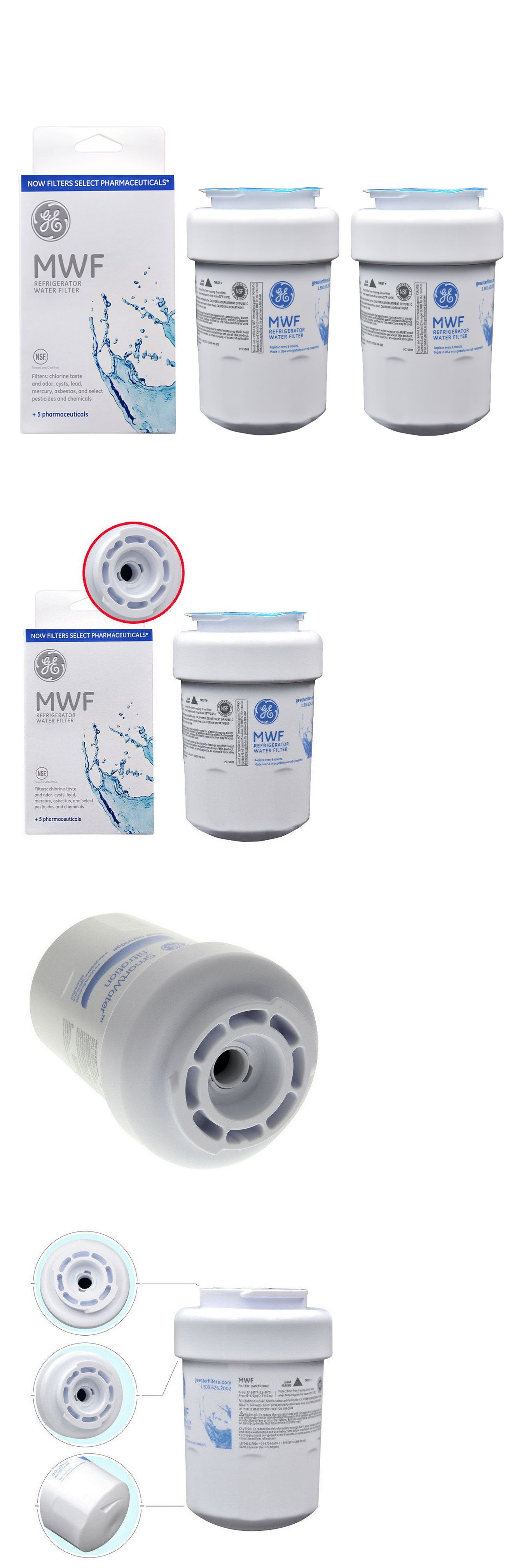 Water Filters 20684 Ge General Electric Mwf Replacement Refrigerator Water Filter 2pack Buy It Now Refrigerator Water Filter Water Filter General Electric