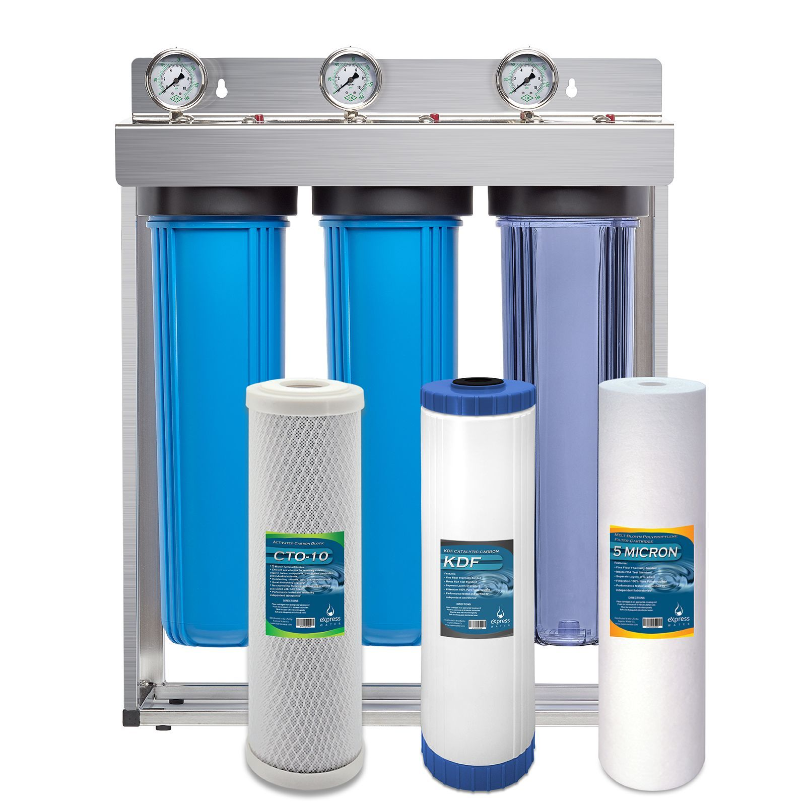 Heavy Metal Whole House Water Filter 3 Stage Home Water Filtration System Sediment Kdf Carbon Filters Home Water Filtration Water Filter Whole House Water Filter