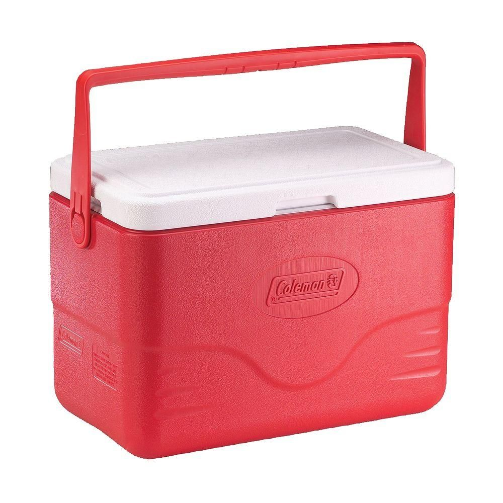 Coleman 28 Qt Cooler With Bail Handle Red Coolers For Sale Mom Birthday Gift Ice Chest Cooler
