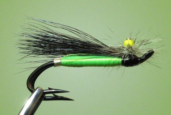 4 Stonefly Atlantic Salmon Flies Tied on Double Hooks