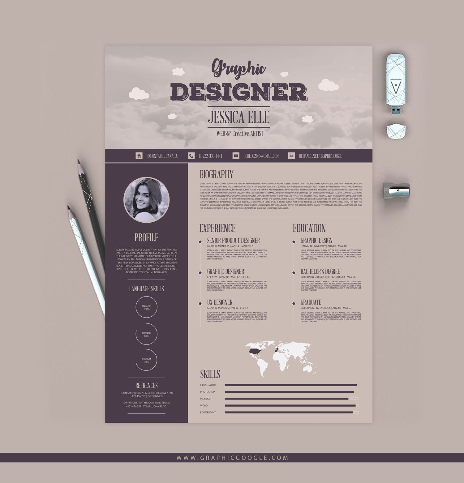 Free Vintage Resume Templates Freeresumetemplates Resume Templates Vintage Resume Design Free Resume Design Resume Design Template