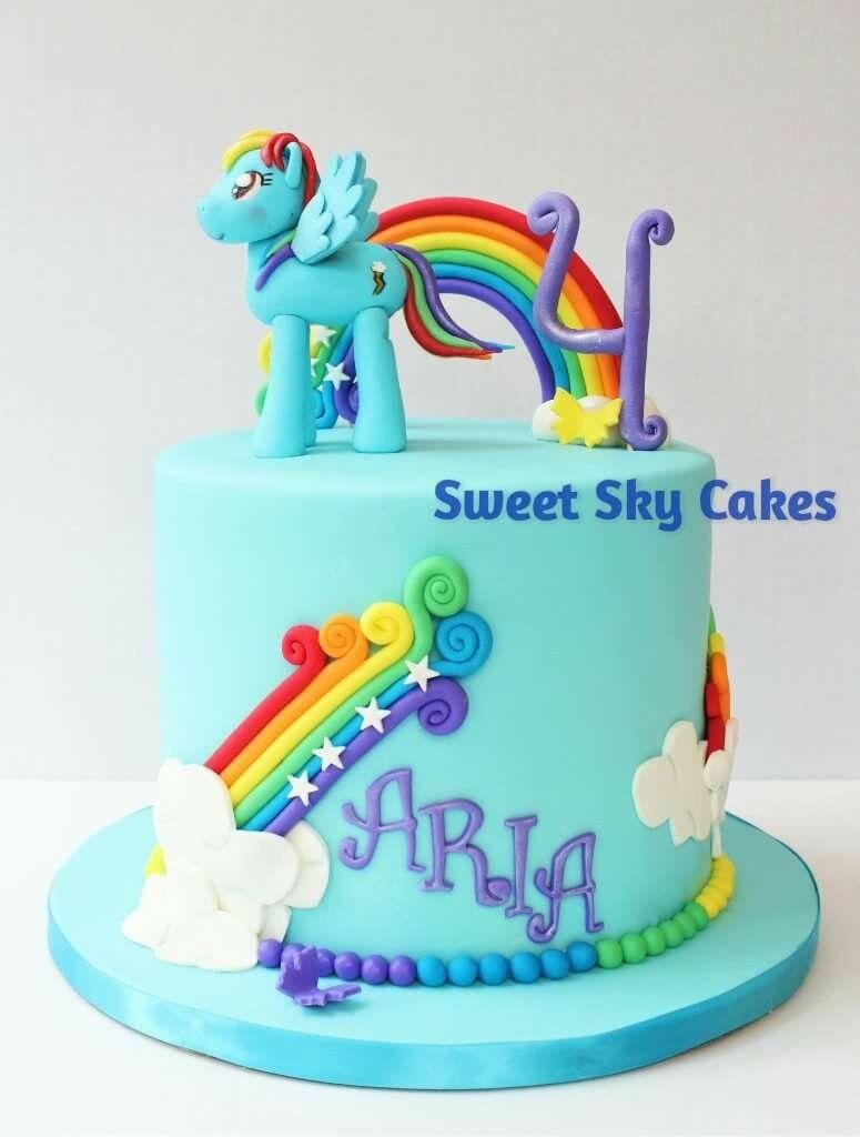 Wondrous Rainbow Dash Cake Rainbow Cake Girls Birthday Cake My Little Funny Birthday Cards Online Fluifree Goldxyz