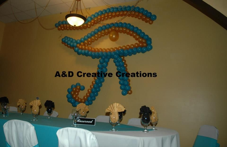Egyptian Theme Party Eye Of Horus Sculpture Baby Shower