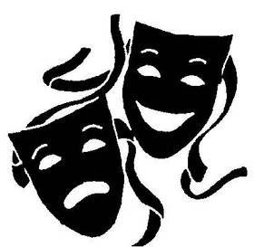 drama masks logo clipart best art pinterest drama masks and rh pinterest com drama masks clip art Drama Masks Happy and Sad