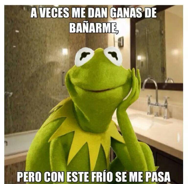 Con O Sin Frio Yo Si Me Baño Imágenes Graciosas Memes