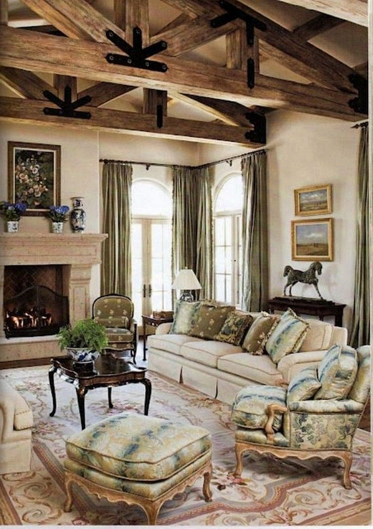 20 Cozy Popular Family Room Design Ideas French Country