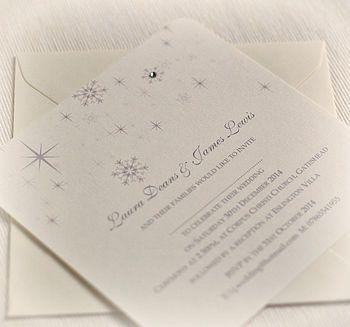 Snowflake Winter Themed Wedding Invitations | Themed weddings ...