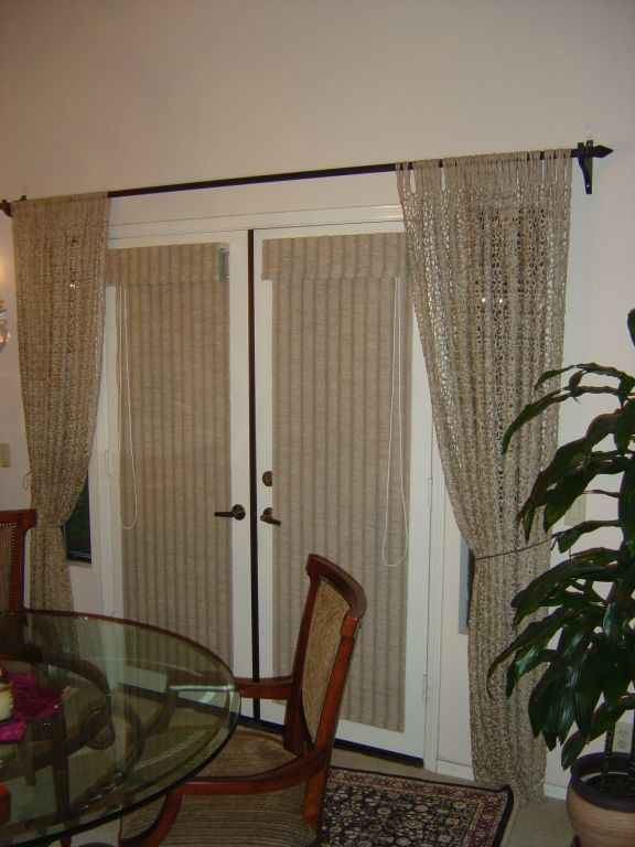 Grass Cloth Shades On French Doors Doors Blinds For