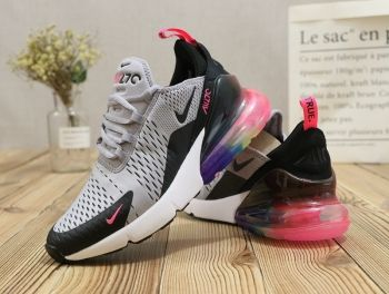 e15dbc3fba4 2018 的 Nike Air Max 270 Pale Grey Black White Pink Rainbow ...