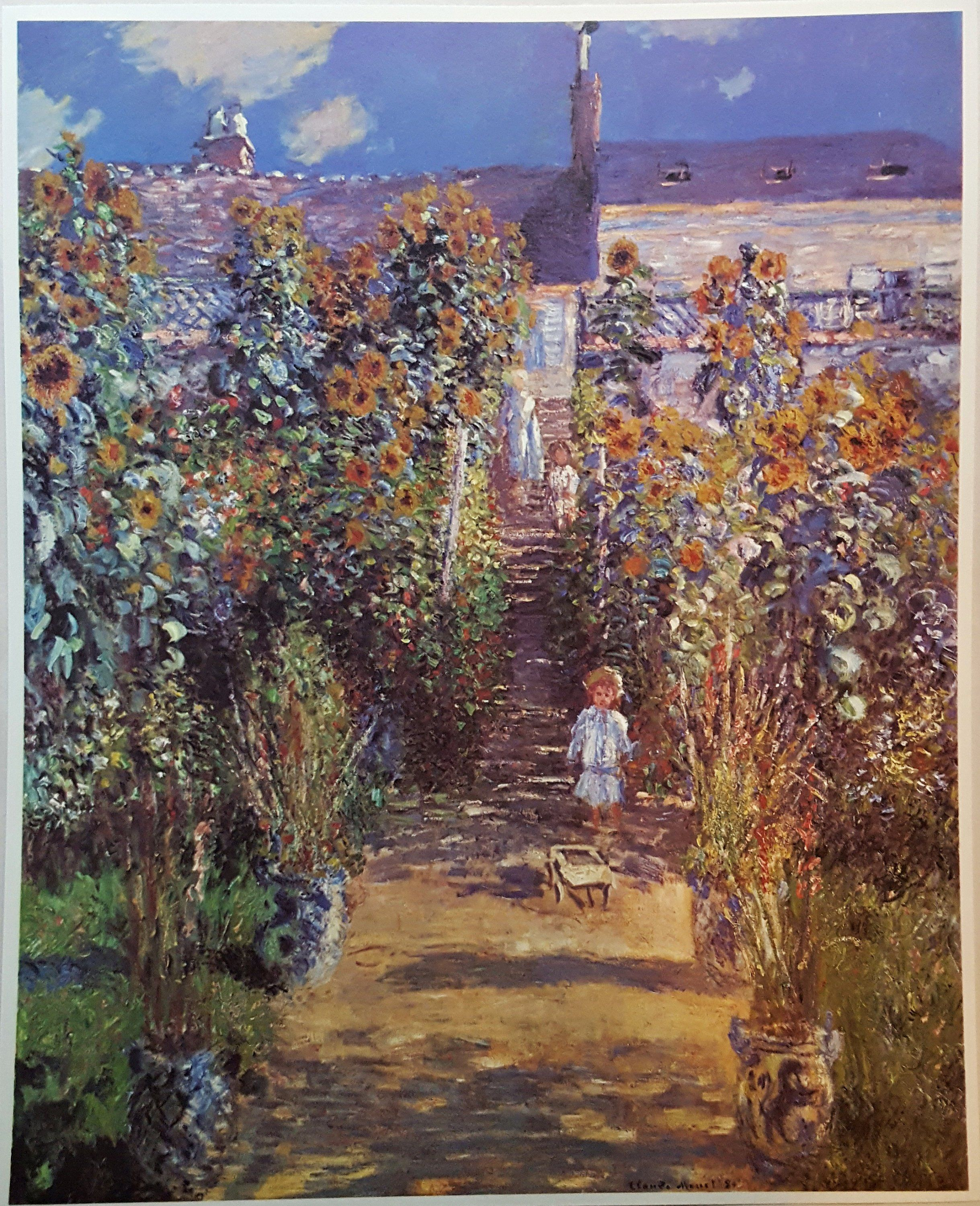 Photo of Small French Impressionist Art History Posters, Book Pages From A Book About Art History