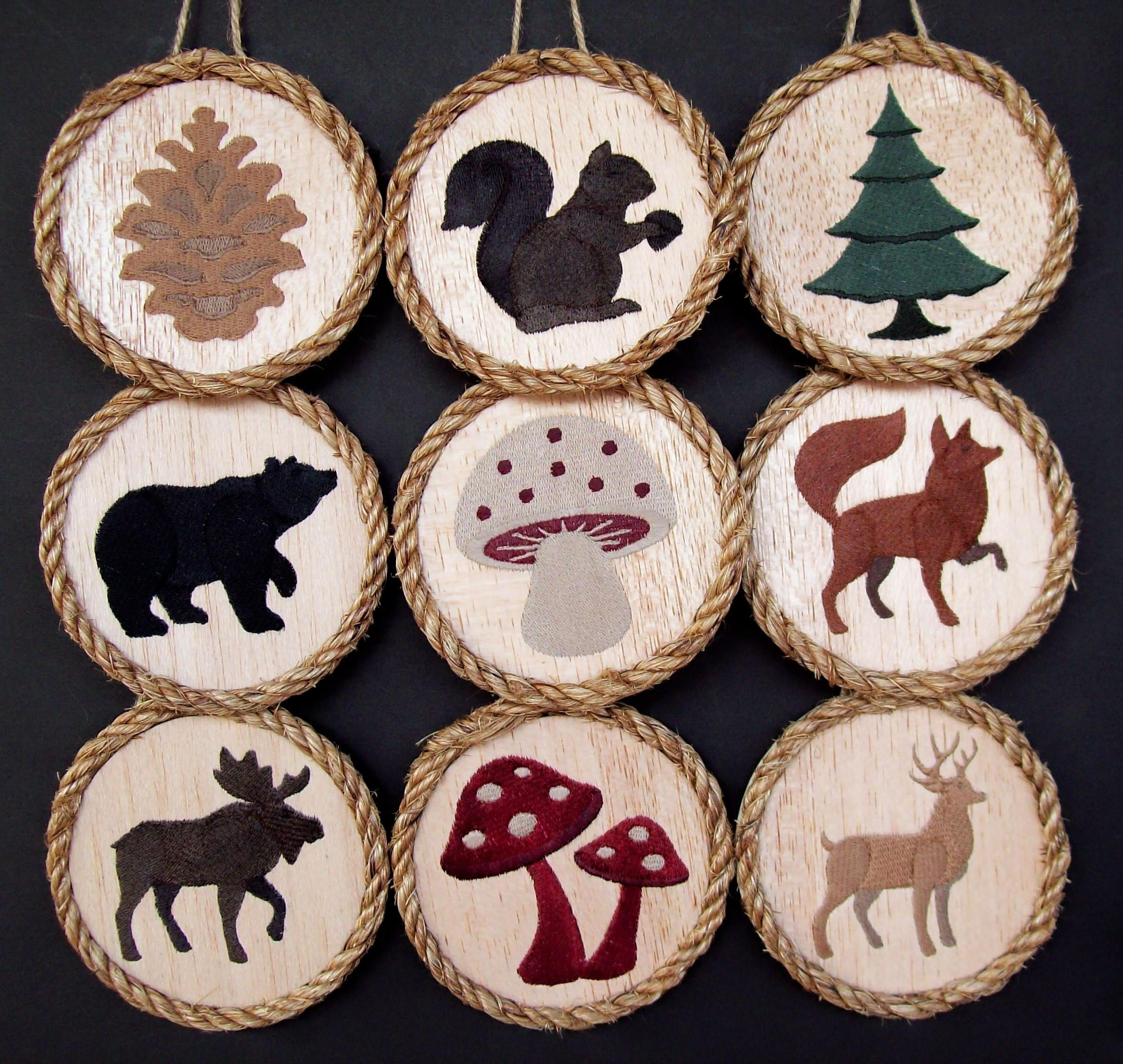Woodland Animals Ornaments Set Of 9 Forest Animals Nature Etsy Woodland Christmas Ornaments Woodland Ornaments Wood Christmas Ornaments
