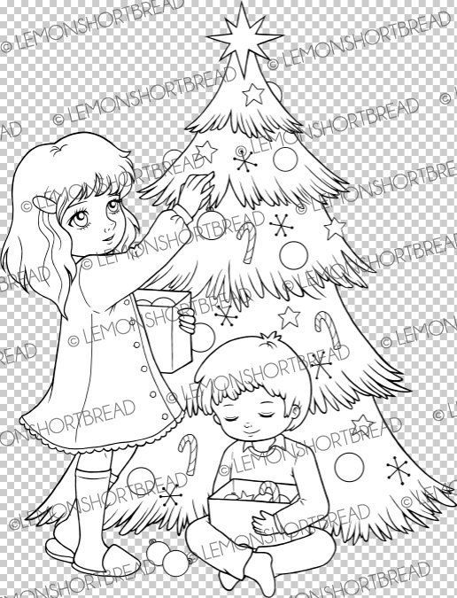 This listing is for 1 digital stamp / colouring page titled