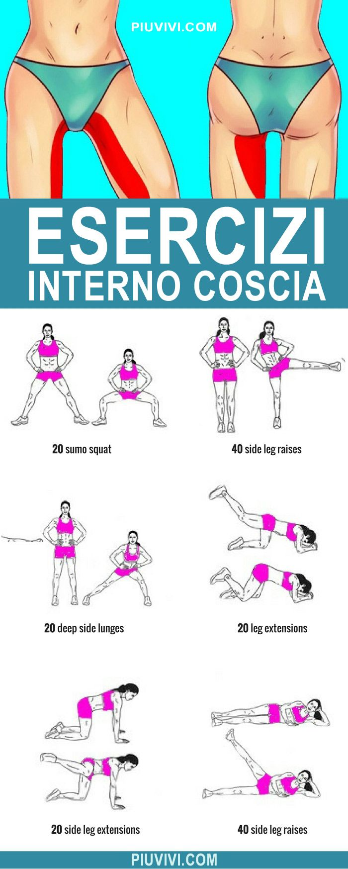 ESERCIZI INTERNO COSCIA #routine