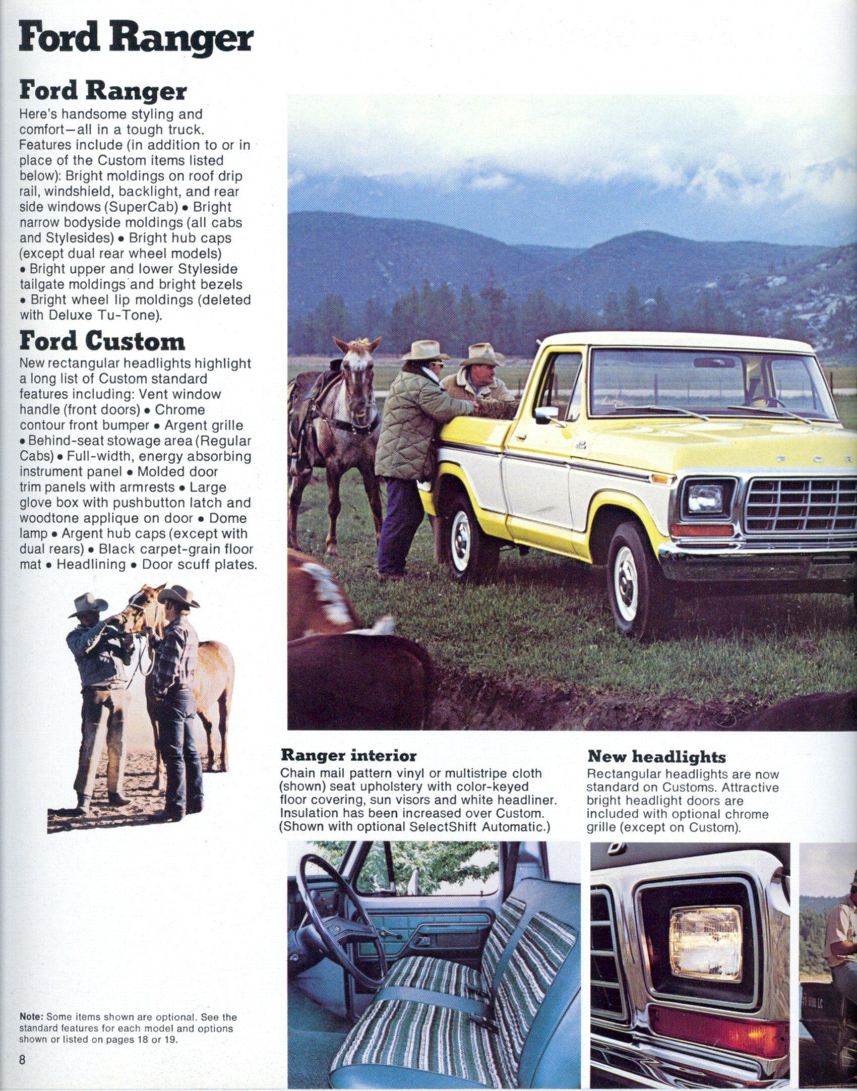 1979 Ford Truck Brochure Ford Trucks Ford Truck Ford Ranger