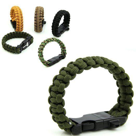 23cm Bracelet Paracord Bracelet de Survie Corde de Parachute avec Boucle  Plastique - OD Vert  Amazon.fr  Vêtements et accessoires 856b0d392bd0