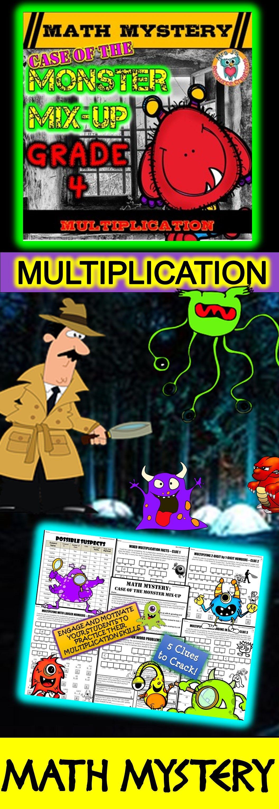 Multiplication Math Mystery