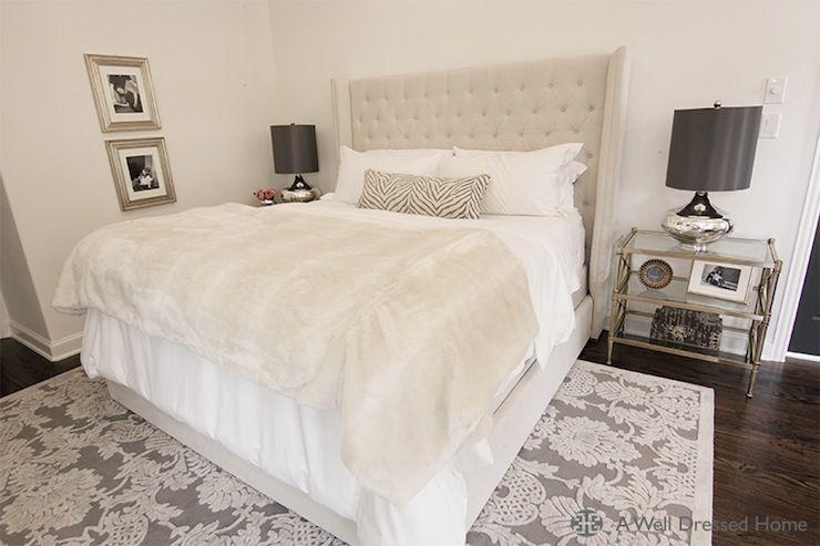 Vetvet Tufted Headboard Transitional Bedroom A Well Dressed Home Beige Headboard Master Bedroom Retreat Bedroom Interior