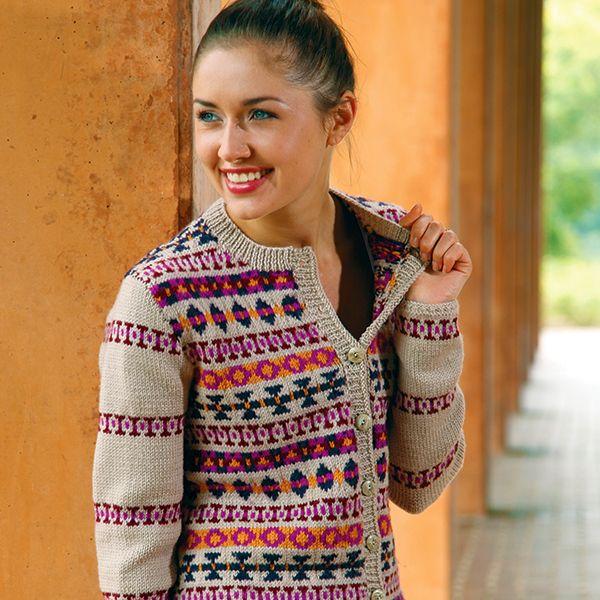 Gala free fairisle Cardigan knitting Pattern in superwash merino ...