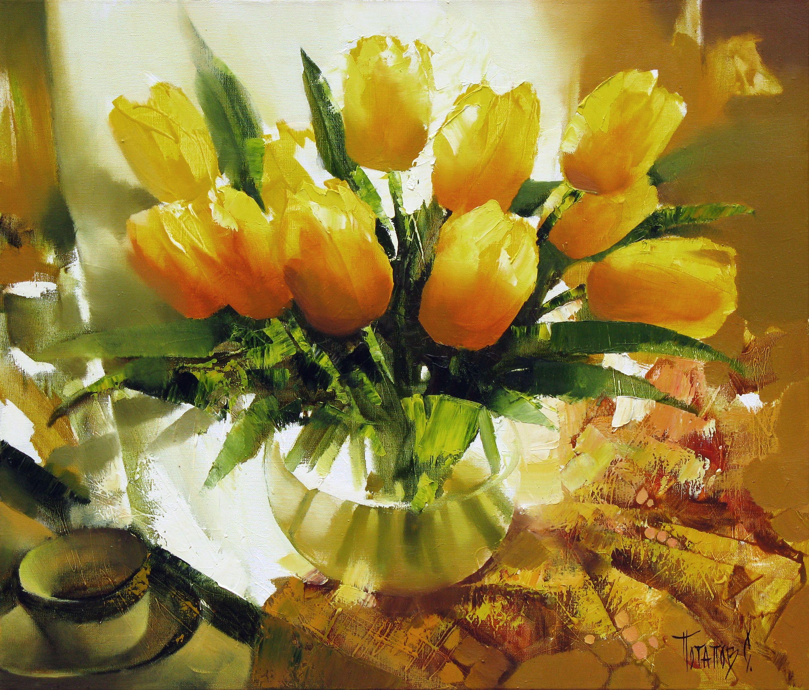 тебе желтые цветы в картинах художников юмор настолько