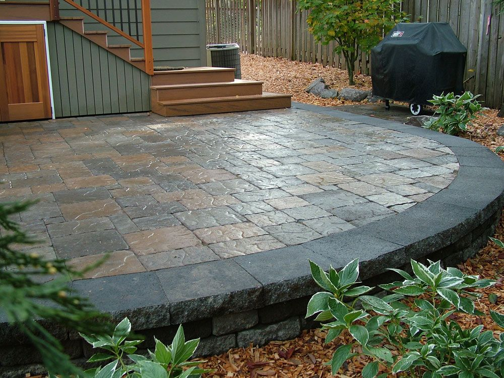 Curved Patio. No tutorial. | Patio, Curved patio, Home ... on Curved Patio Ideas id=97867