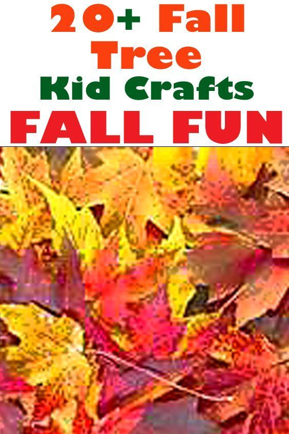 20 Fall Tree Kid Craft Fall Fun Autumn Craft Amorecraftylife