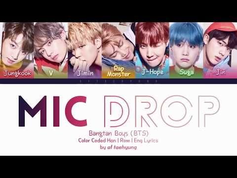 BTS (방탄소년단) - MIC Drop (Color Coded Lyrics Han Rom Eng) - YouTube 574bb4eaf
