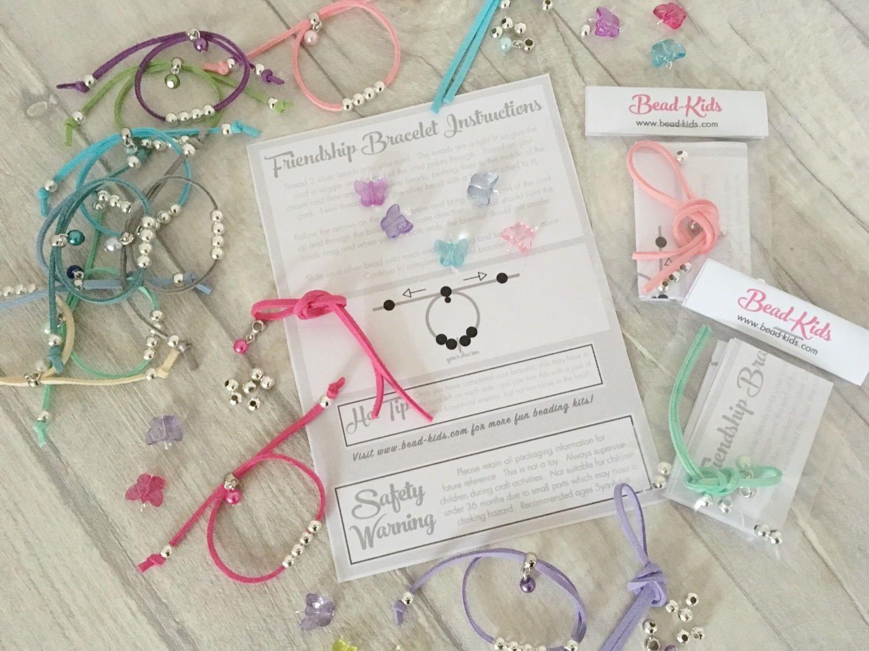 Diy butterfly friendship bracelet kit girls bracelet party bag