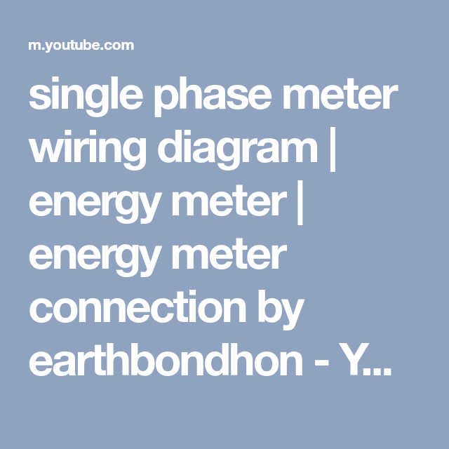 Old Fashioned Single Phase Meter Wiring Diagram Gift - Wiring Ideas ...