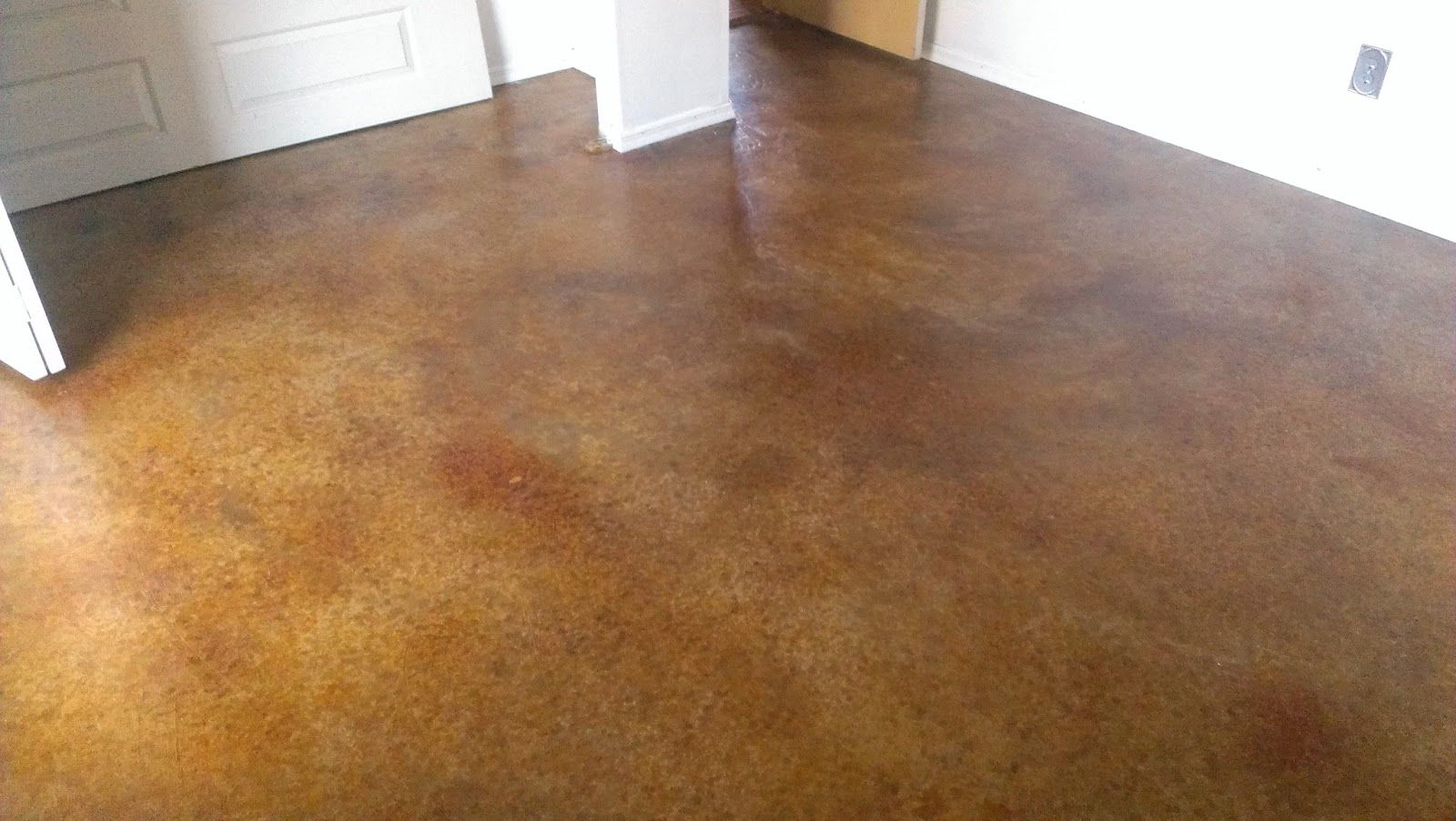 My New Concrete Painted Floor Used Henry S Skimcoat Behr Paint