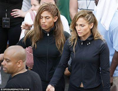 Haha! Jennifer Lopez has a stunt double - A MAN! from Crazy