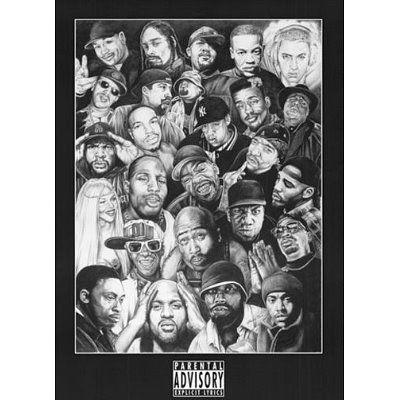 "Aaliyah /""Black Light/"" Collage Poster"