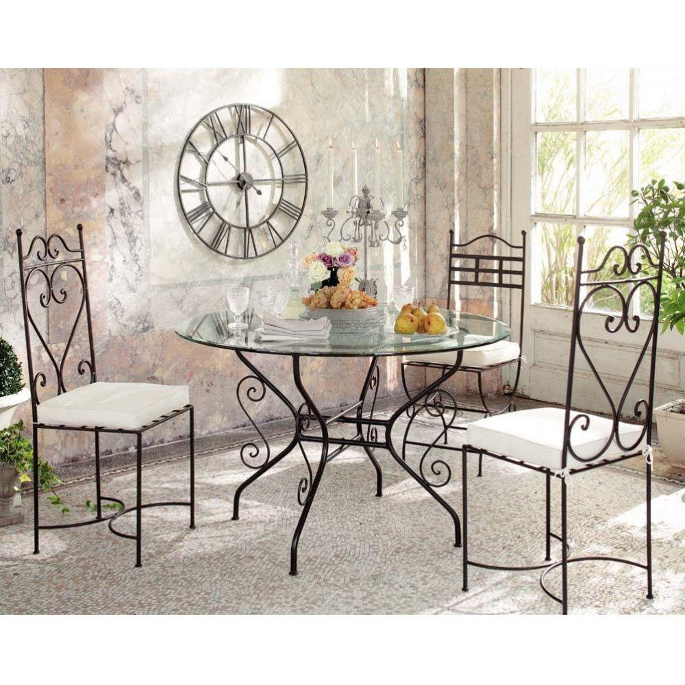 Chaise En Fer Forge Marron Maisons Du Monde Wrought Iron Furniture Iron Furniture Wrought Iron Chairs