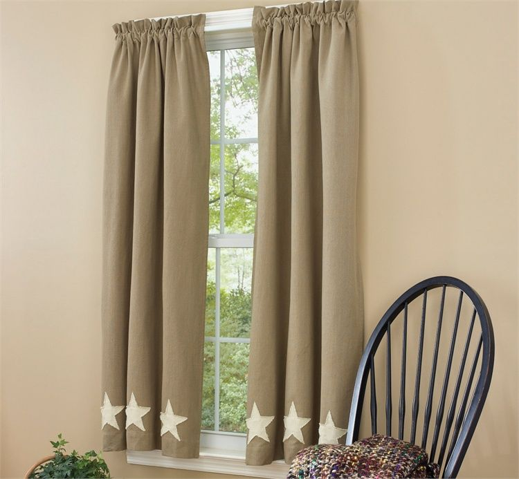 Taupe Star Lined 63 Curtain Panels