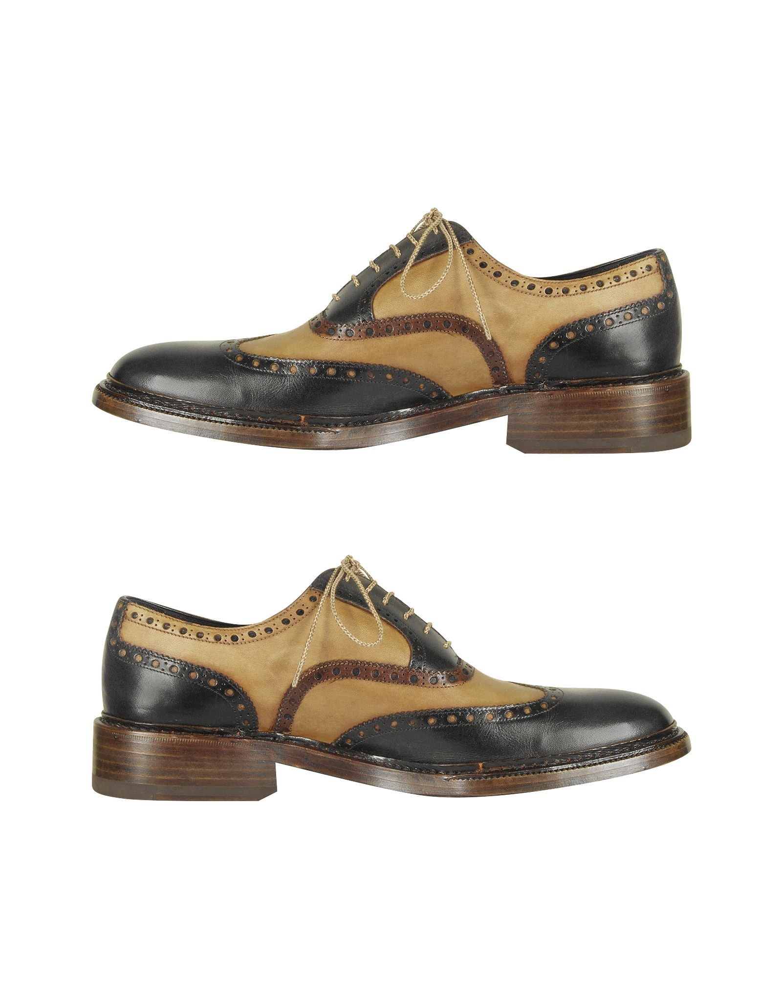 Forzieri Italian Handcrafted Two tone Wingtip Oxford Shoes