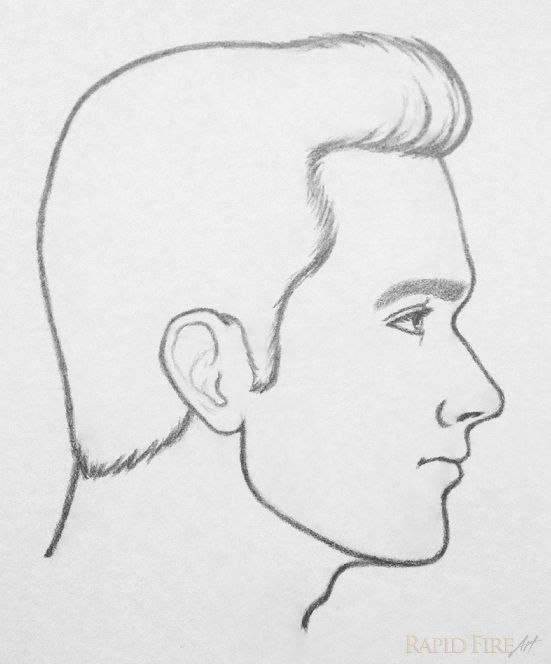 image result for side on face reference sketch faces in 2018