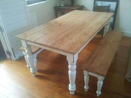 Pine Kitchen Table Rohl Country Faucet Rustic Dining Bench In 2019 New Pinterest