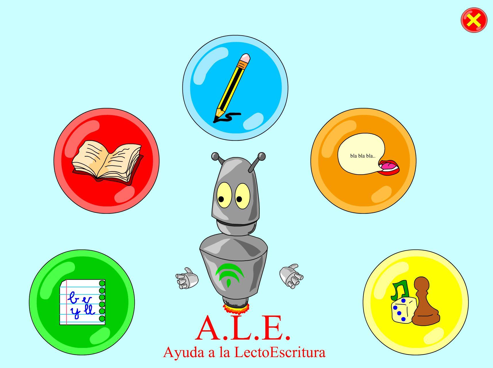 Recurso Educativo en Abierto Procomún para Primaria. ALE. Ayuda de la lecto-escritura.
