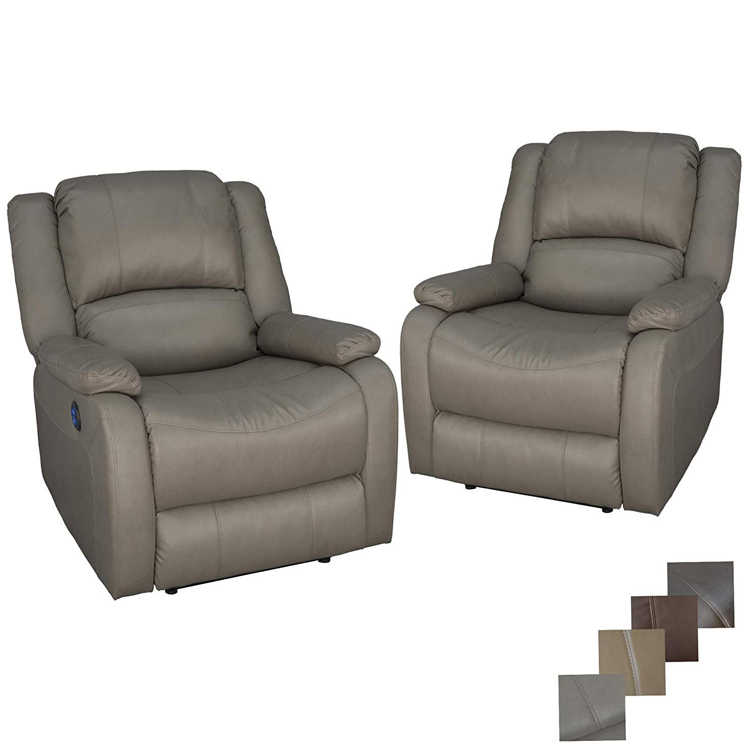 Recpro Charles 30 Powered Rv Wall Hugger Recliner Set Of 2 Zero Wall Powered Reclining Chair For Rvs And Campe Wall Hugger Recliners Recliner Chair Recliner