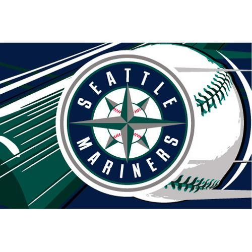 Seattle Mariners MLB Tufted Rug (59x39)