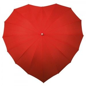 The symbol of love on your special day our gorgeous Red Heart Wedding Umbrella September wedding - just in case?